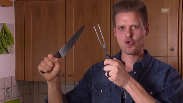 Video ««SRF bi de Lüt – Männerküche»: Beat Büschlen» abspielen
