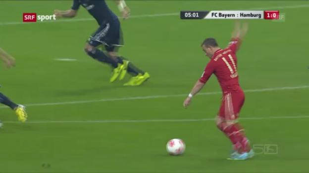 Video «Fussball: Bayern - Hamburg («sportaktuell»)» abspielen