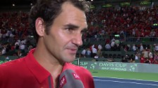 Video «Tennis: Interview Federer» abspielen