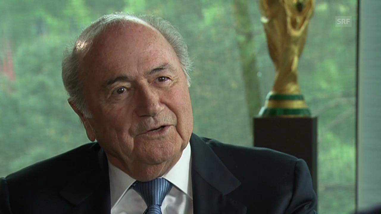Fussball: Das gesamte Gespräch mit Joseph Blatter (französisch)