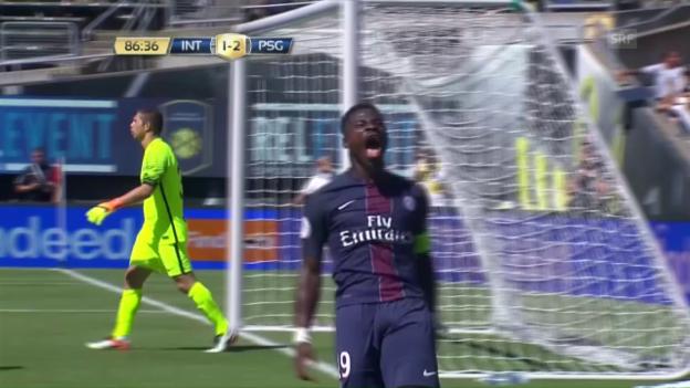 Video «PSG schlägt Inter mit 3:1 - Aurier mit Doppelpack» abspielen