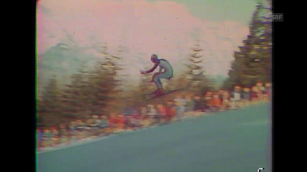 Video «Russi fordert Klammer in der Olympia-Abfahrt 1976» abspielen