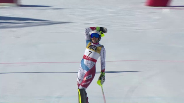 Video «Holdener erobert Silber im WM-Slalom» abspielen