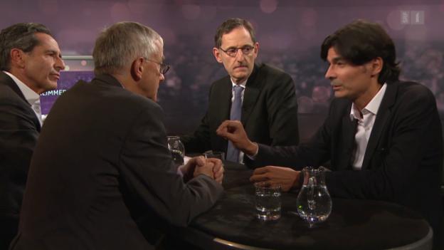 Video «Gäste: Felix E. Müller, Daniel Binswanger und Mario Fehr» abspielen