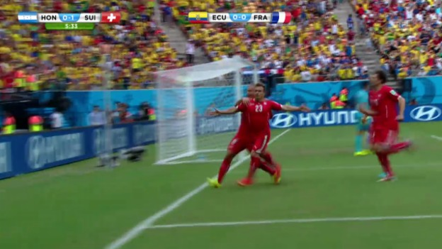 Video «FIFA WM 2014: Schweiz - Honduras, Shaqiris 1:0» abspielen