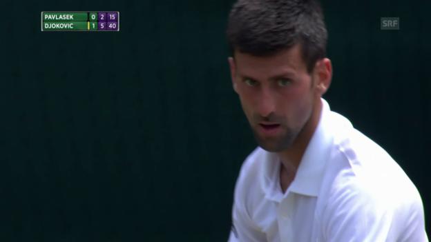 Video «Djokovic gibt sich gegen Pavlasek keine Blösse» abspielen