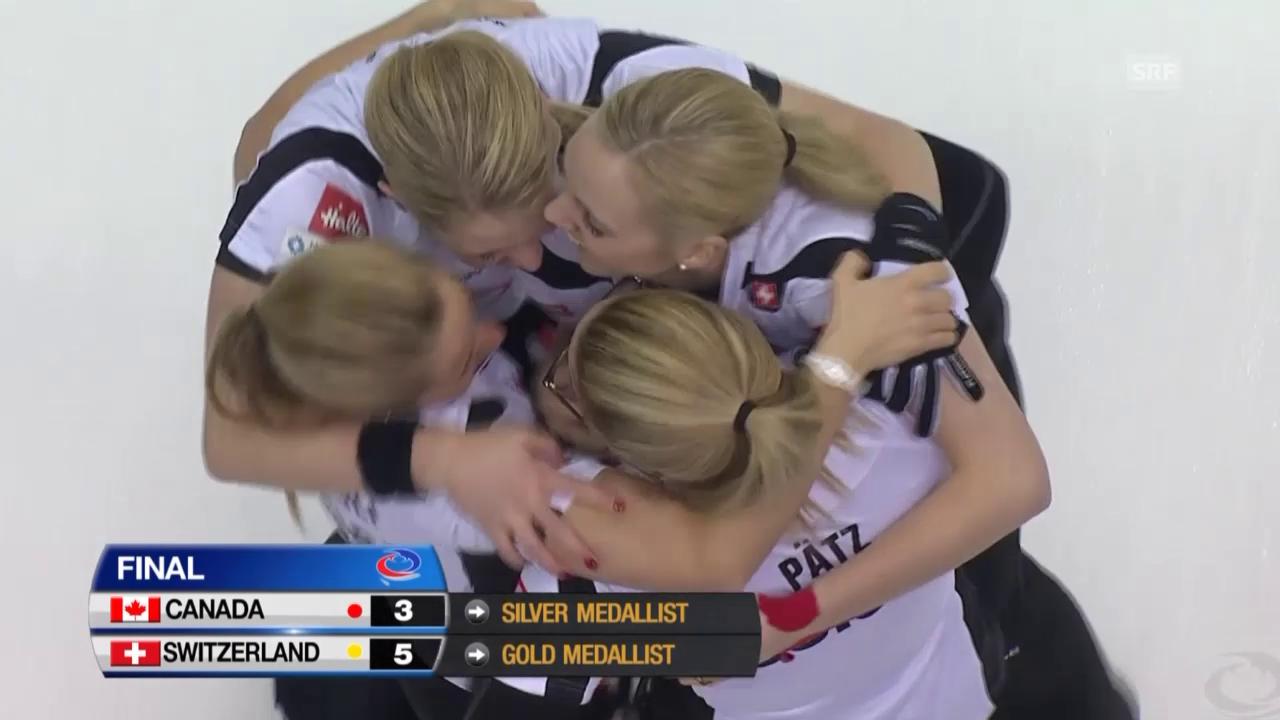 Curling: WM-Final Schweiz - Kanada, der letzte Stein
