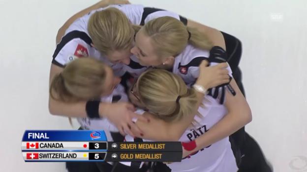 Video «Curling: WM-Final Schweiz - Kanada, der letzte Stein» abspielen