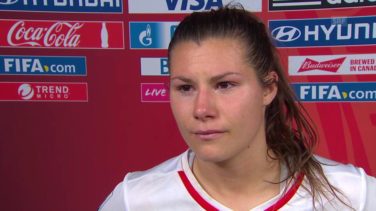 Fussball: Frauen-WM, Achtelfinal, Kanada - Schweiz, Interview Ramona Bachmann
