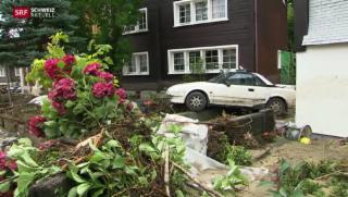 Video «Überschwemmung in Altstätten SG» abspielen