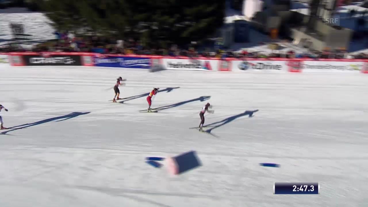 Halbfinal-Heat von Laurien van der Graaff («sportlive», 15.12.2013)