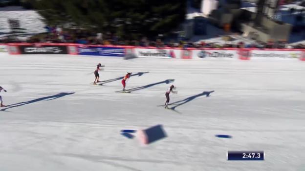 Video «Halbfinal-Heat von Laurien van der Graaff («sportlive», 15.12.2013)» abspielen