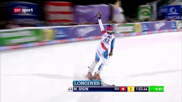 Video «Ski: Nachtslalom Flachau, Rennbericht «sportaktuell»» abspielen
