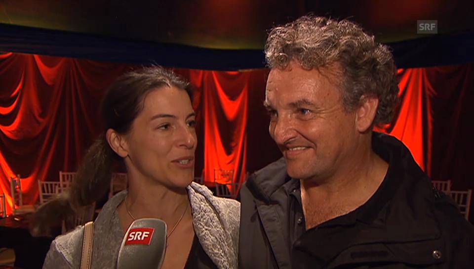 Marco und Christina Rima nach der Spontaneinlage