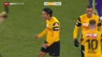 Video «Bern zittert sich im Derby gegen Thun zu einem 2:1-Sieg» abspielen