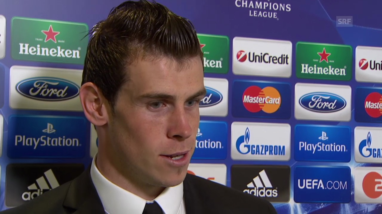 Fussball: Champions League, Interview mit Gareth Bale