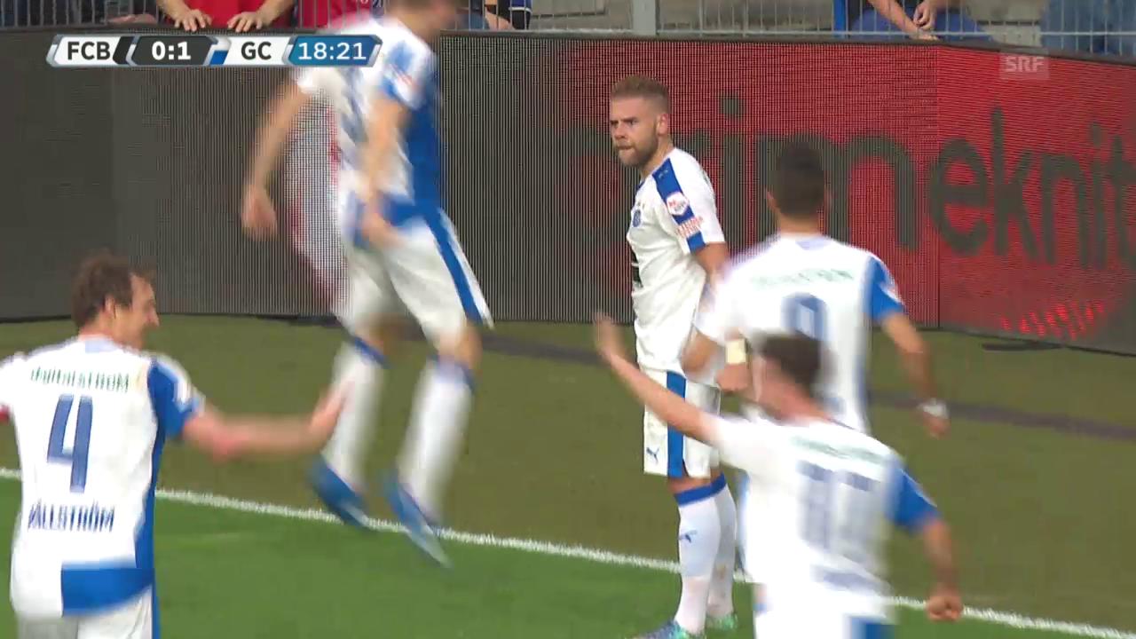 Fussball: Super League, Basel - GC, 1:0 GC