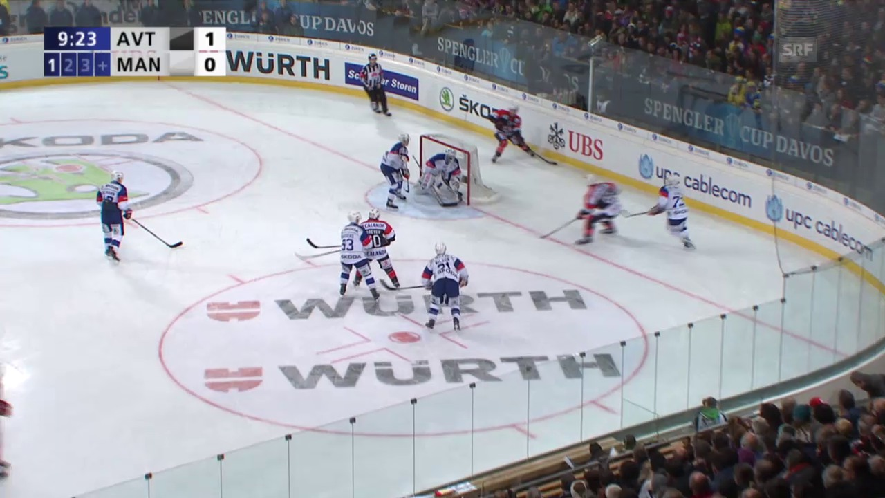 Eishockey: Spengler Cup, Jekaterinburg - Mannheim, Tor zum 2:0