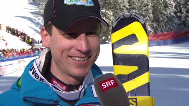 Video «Ski Alpin: Abfahrt Wengen, Reichelt im Interview» abspielen