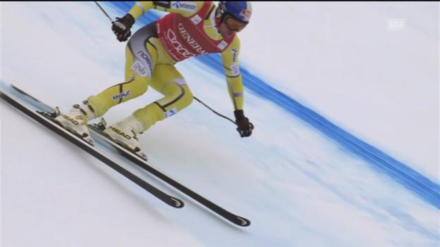 Video «Ski alpin: Svindals Super-G-Fahrt in Kitzbühel («sportlive»)» abspielen
