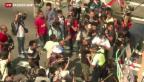Video «Zusammenstösse in Hongkong» abspielen
