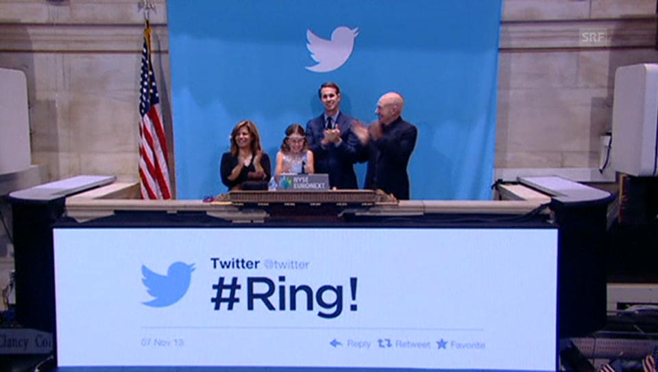 Der Start von Twitter an der Börse in New York