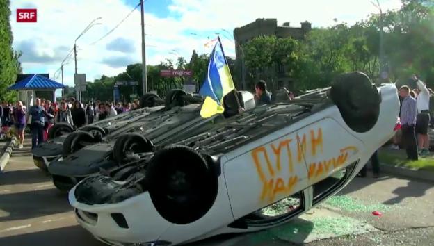 Video «Verhandlungen in der Ukraine drohen zu scheitern» abspielen