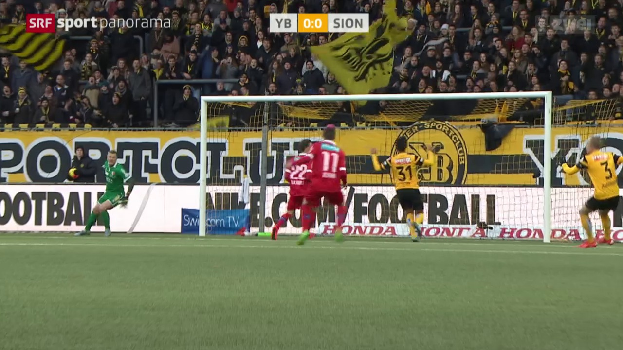 Fussball: Young Boys - Sion
