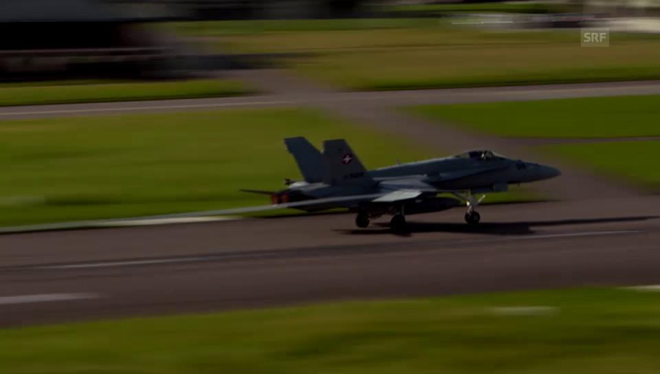 Alarmstart der zwei F/A-18 in Payerne