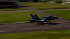 Video «Alarmstart der zwei F/A-18 in Payerne» abspielen