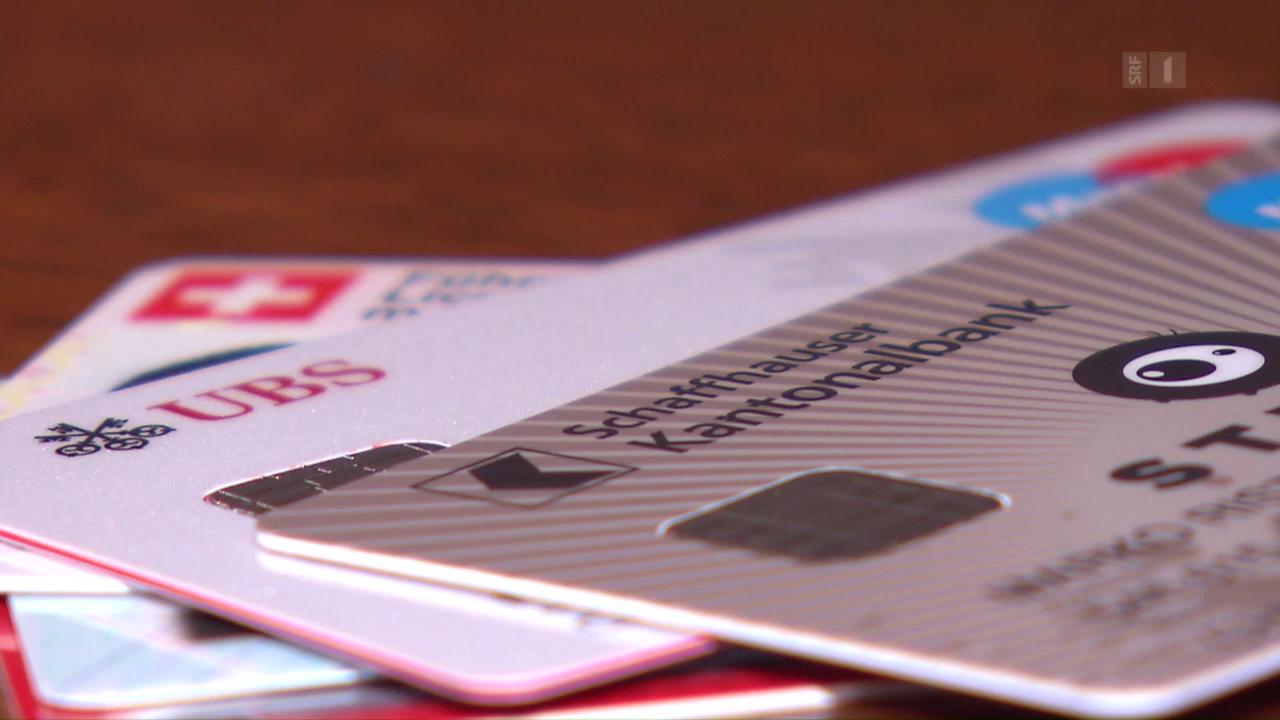 Bankkarte weg: grosse Preisunterschiede für Ersatzkarten