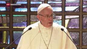 Video «Papst Franziskus beehrt Genf » abspielen