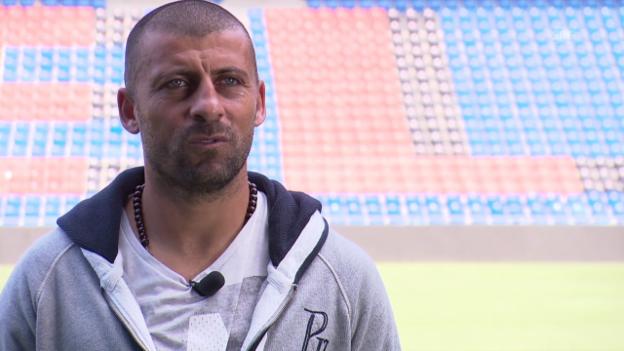 Video «Fussball: Real-FCB, Interview mit Walter Samuel über seine Real-Zeit» abspielen
