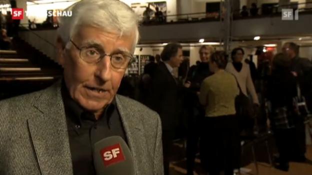 Video «Peter von Matt erhält Schweizer Buchpreis» abspielen
