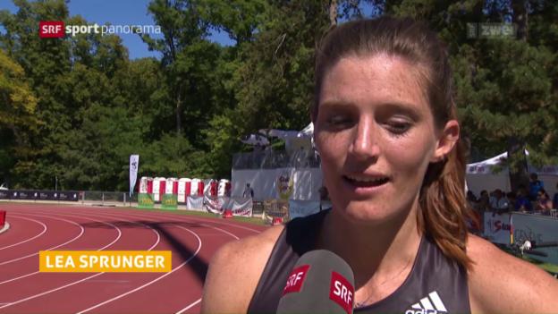 Video «Lea Sprunger stellt neuen CH-Rekord über 200 m auf» abspielen