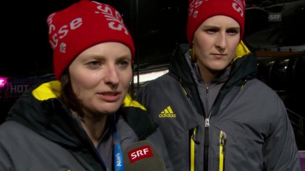 Video «Zweierbob: Interview mit dem Schweizer Duo Mayer/Meyer (sotschi direkt, 18.02.2014)» abspielen