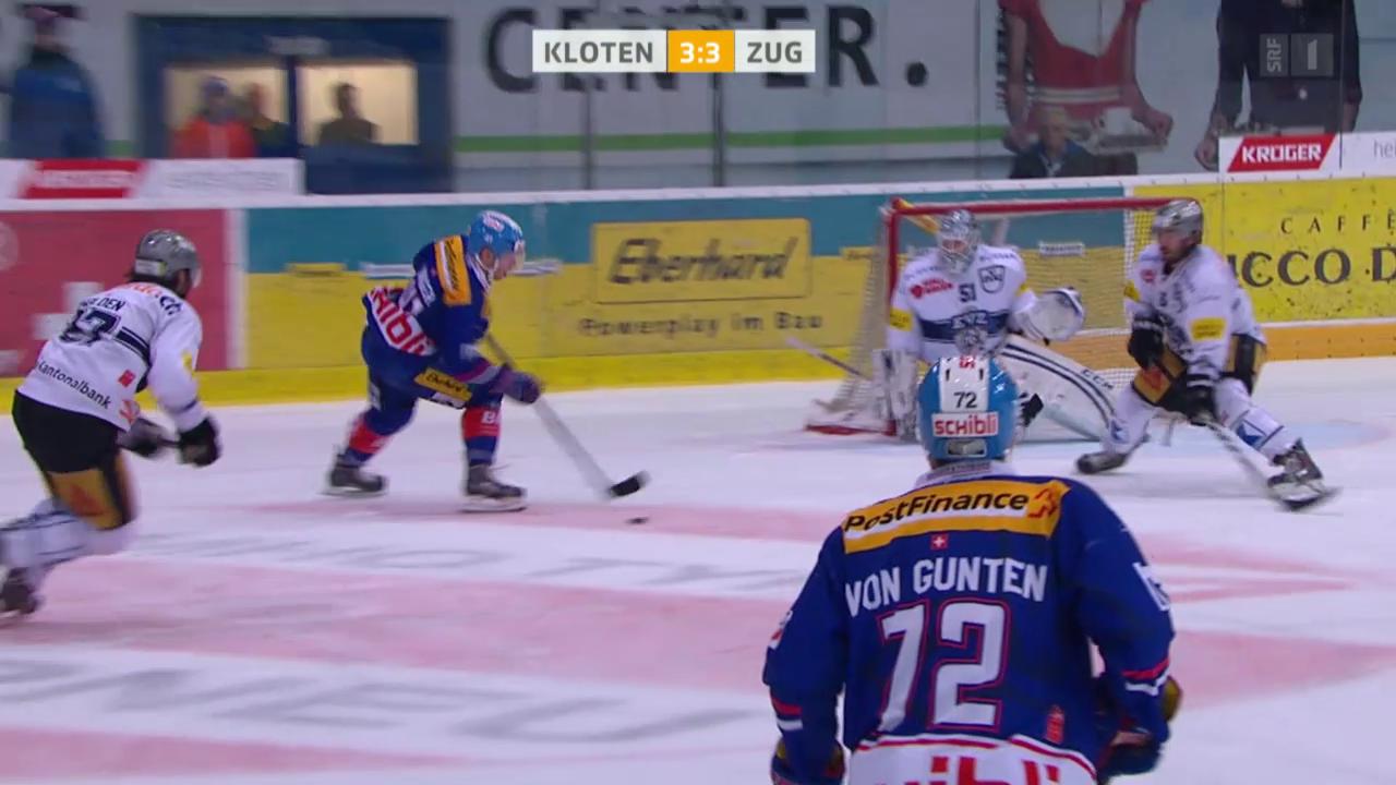 Eishockey: NLA, Kloten - Zug