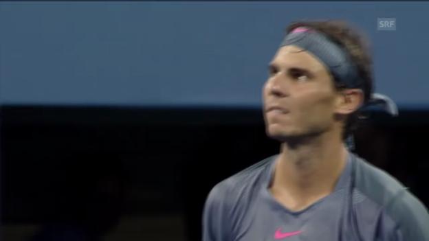 Video «Nadals Steigerungslauf gegen Kohlschreiber» abspielen