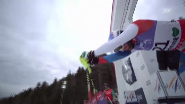 Video «WM-Slalom: 2. Lauf Vogel» abspielen
