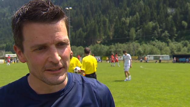 Video «Paddy Kälin und Matthias Hüppi am Promi-Fussballturnier» abspielen