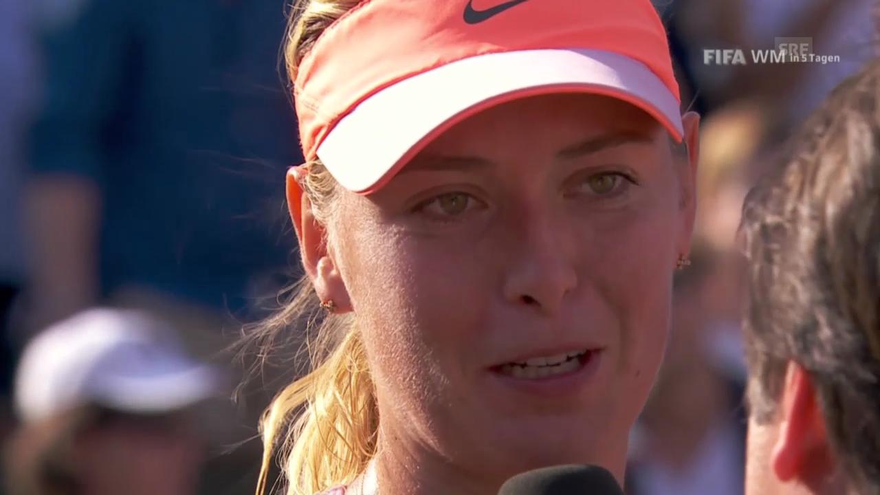 French Open: Final Scharapowa - Halep, Interview mit Maria Scharapowa