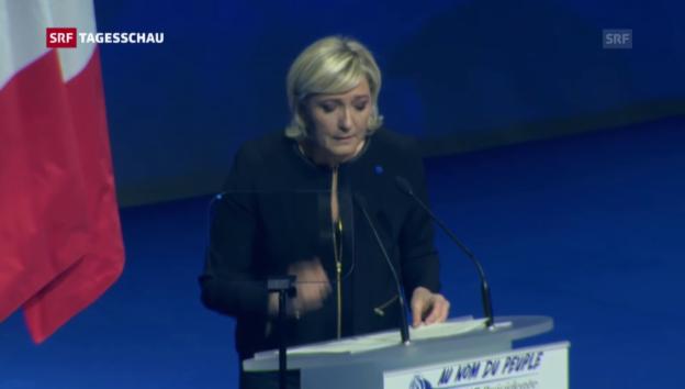 Video «Le Pen startet Wahlkampf» abspielen