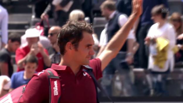 Video «Angetreten – und verloren: Federer unterliegt Thiem in 2 Sätzen» abspielen