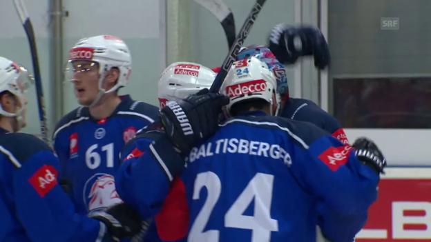 Video «ZSC Lions gegen Klagenfurt souverän» abspielen