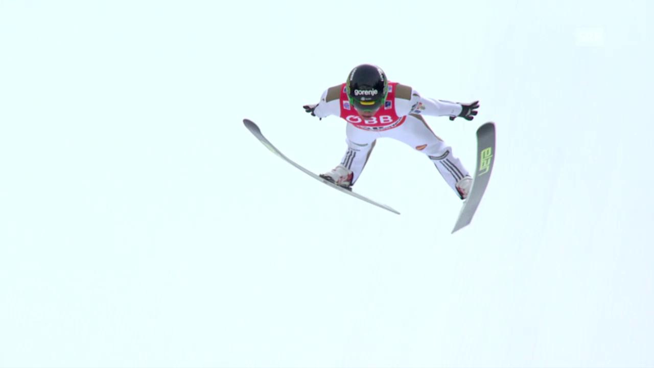 Peter Prevc bricht Noriaki Kasais Schanzenrekord am der Skiflug-WM am Kulm umgehend