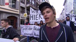 Video «Landesweiter Schüler-Protest gegen Abbau in der Bildung» abspielen