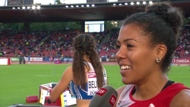 Video «Leichtathletik: Mujinga Kambundji im Interview» abspielen