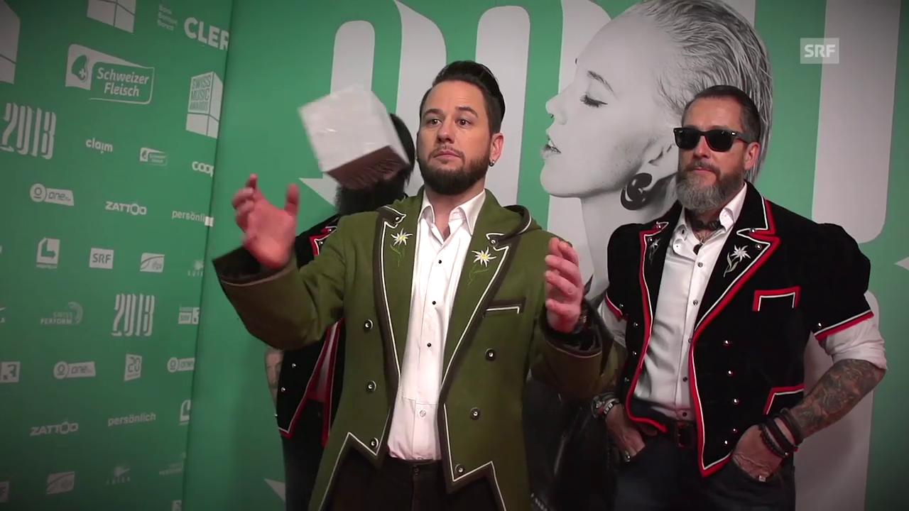 Swiss Music Awards 2018: Steinwurf auf dem Roten Teppich