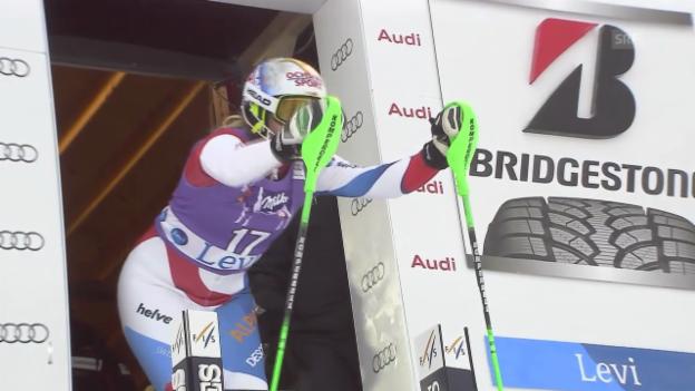 Video «Ski Alpin: 1. Lauf Denise Feierabend» abspielen