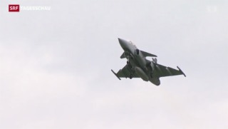 Video «Gegner des Kampfjet «Gripen» präsentieren ihre Argumente» abspielen